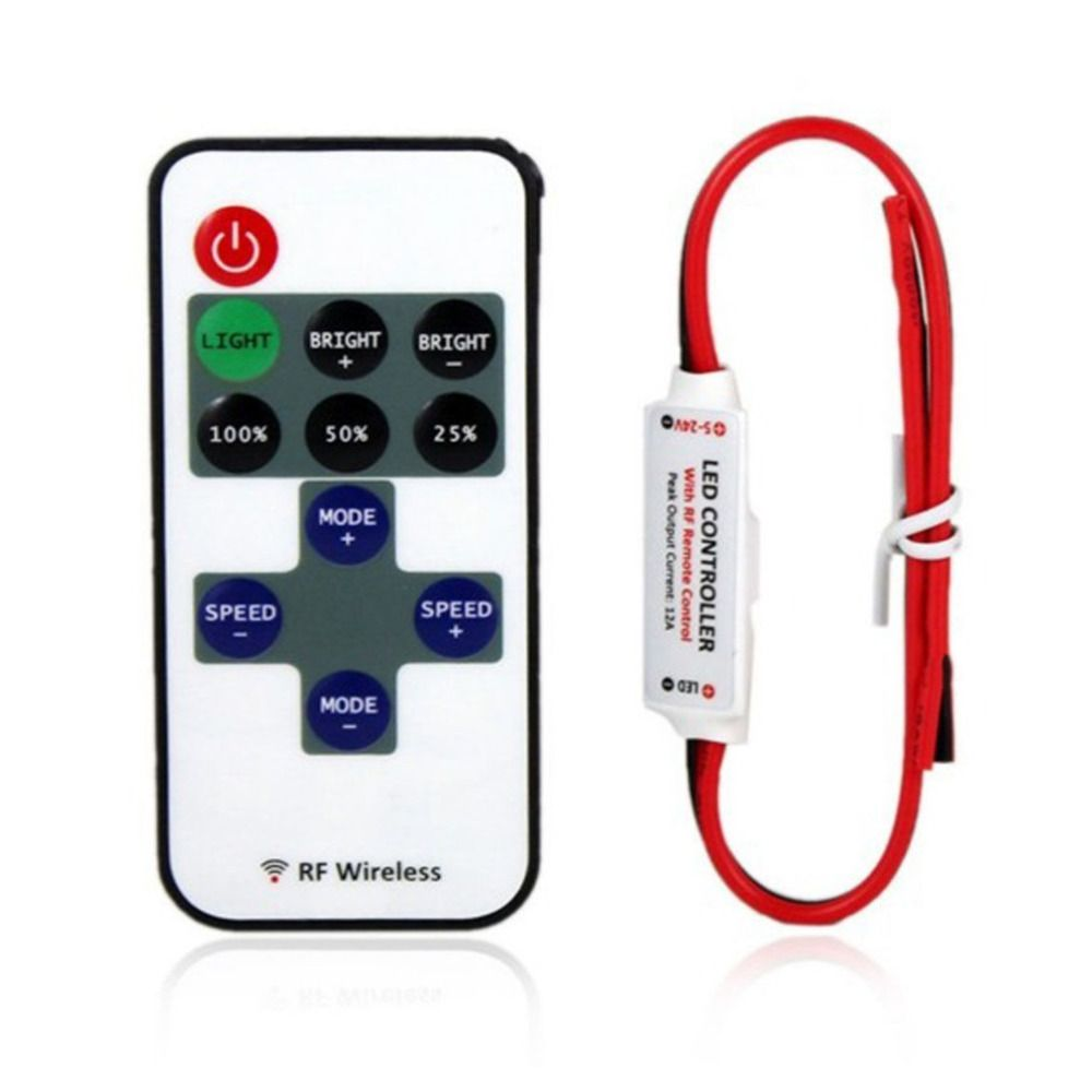 Us 183 set 1set single color remote control dimmer dc 12v 11keys cheap led replace buy quality led car window display directly from china control led strip suppliers single color remote control dimmer dc mini wireless mozeypictures Image collections