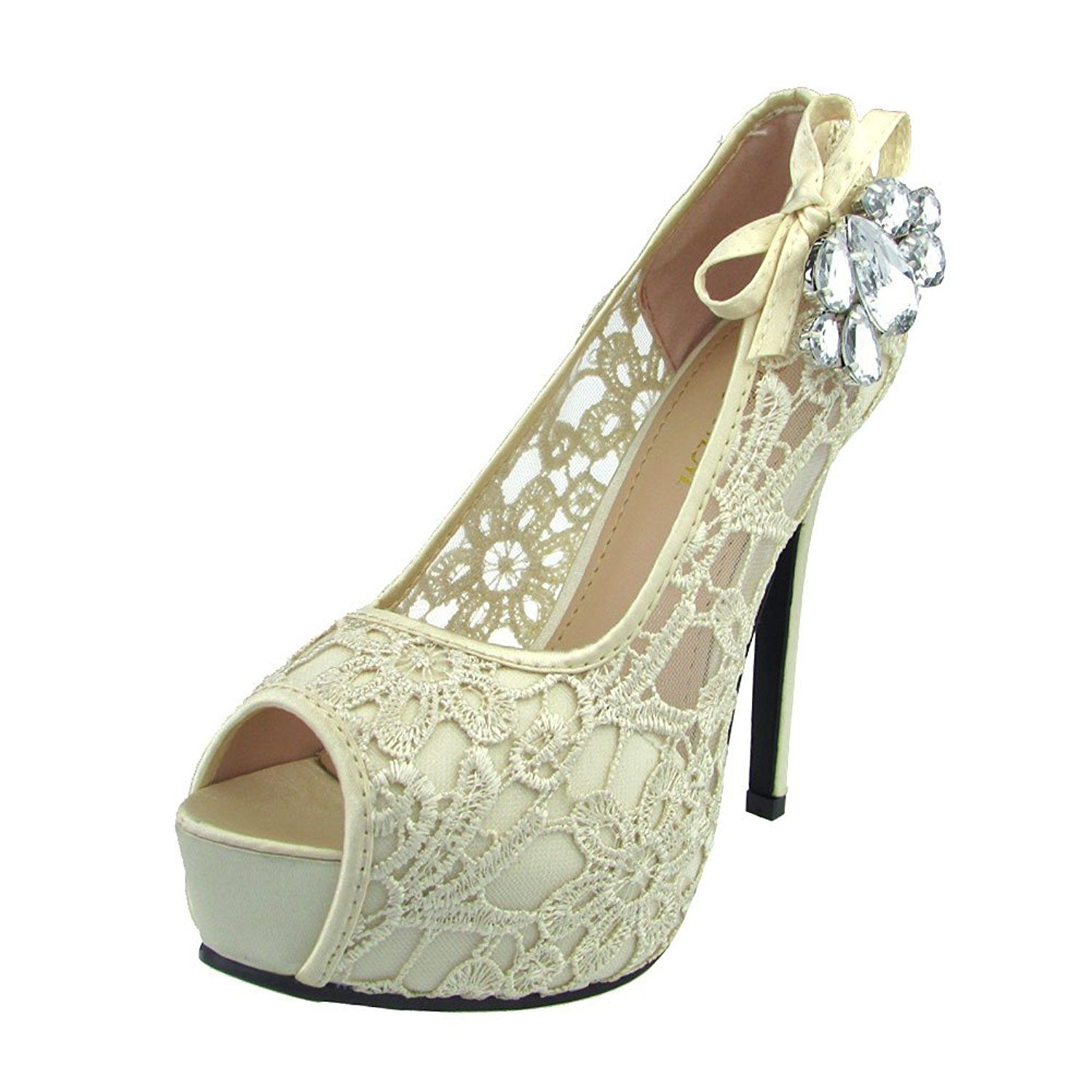 50ccff61f274 Donalworld Women Lace Up Crystal Sandals High Heel Wedding Sandals     Details can be found by clicking on the image. This Amazon pins is an  affiliate link ...