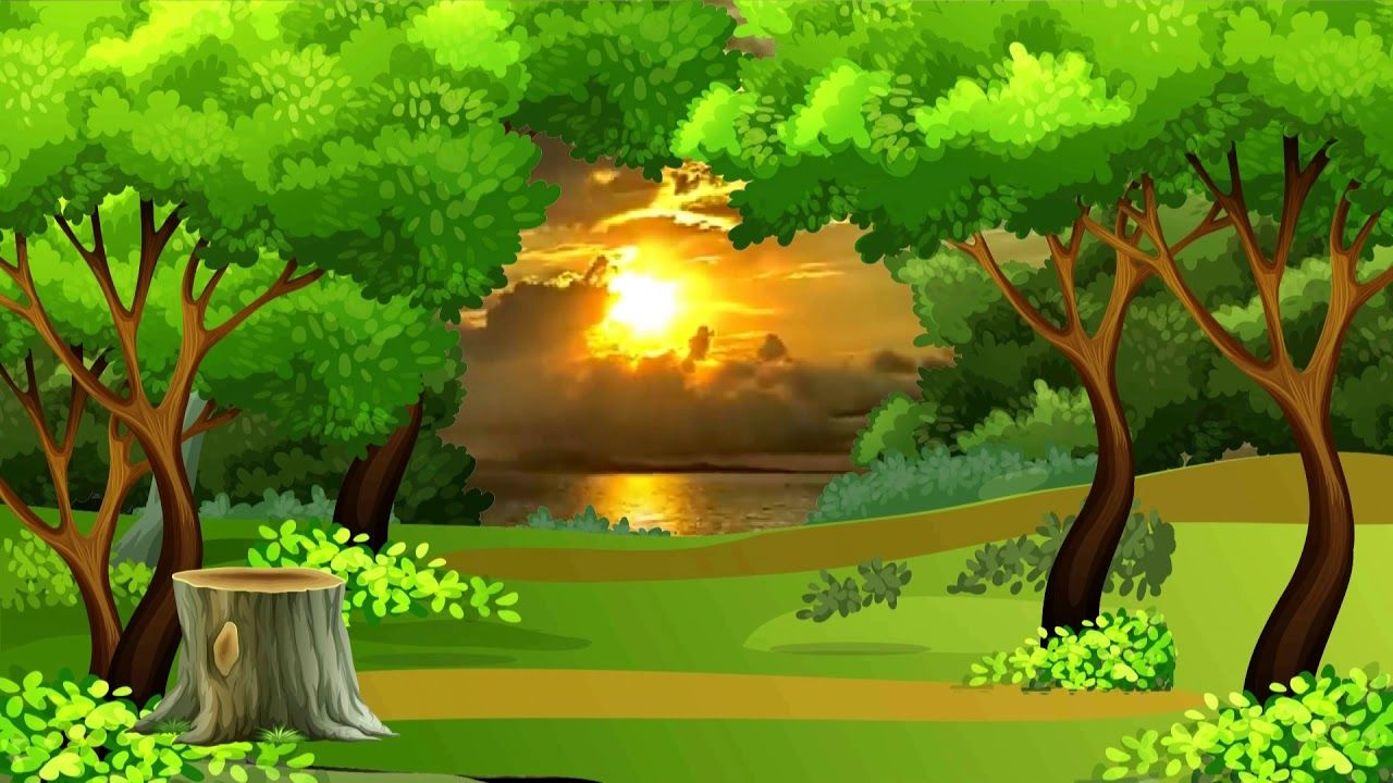 Beautiful 3d Animation With Nature Tree Scenery 3d Background Video 745 Green Screen Backgrounds Greenscreen Smoke Animation