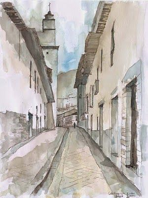 Revista Digital Apuntes De Arquitectura Bocetos A Mano Alzada Plazas Y Calles De La Ciudad Bocetos Calle Dibujo Arquitectonico