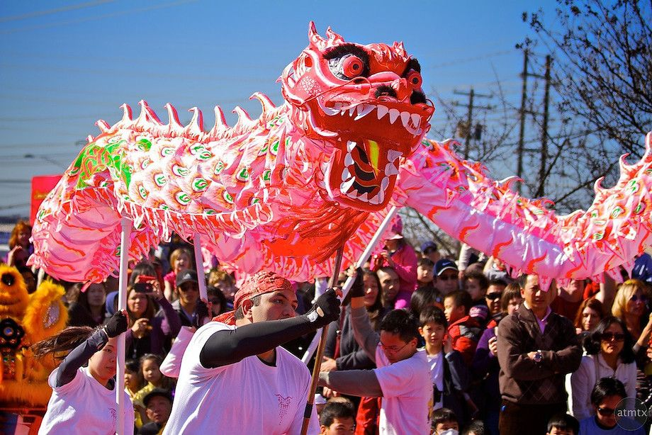 The Dragon Dance taken at the Chinese New Year Celebration