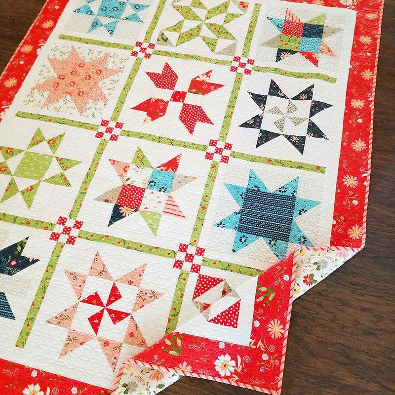 Garden Stars Sampler Quilt Pattern A Quilting Life Sampler Quilts Quilt Patterns Sampler Quilt