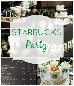 Collage of Starbucks Party photos