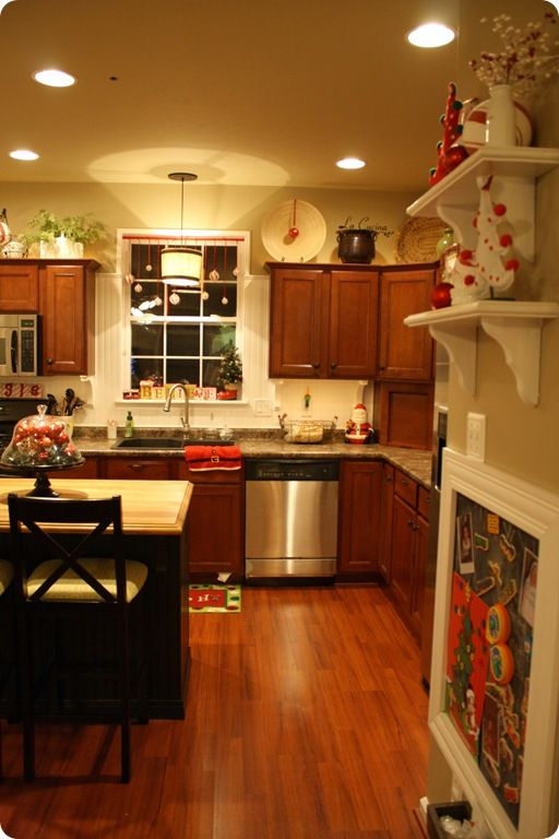 decorating the kitchen for christmas love Christmas