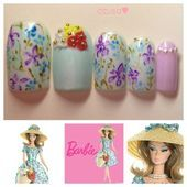 Photo of nails for Market Day Barbie Doll by azusa  Nail Art Gallery nailartgallery.n
