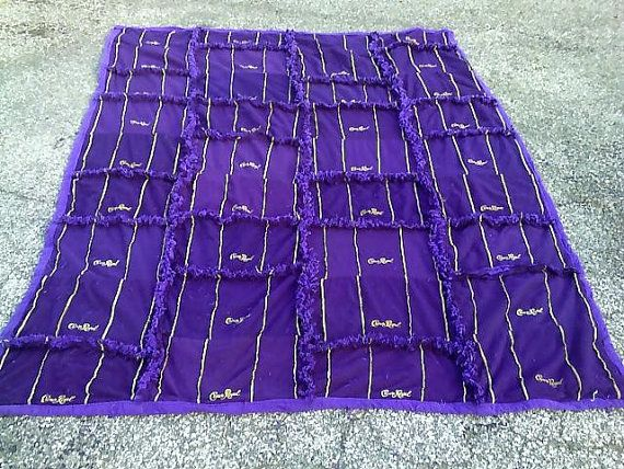 Royal Couch Throw made from Crown Royal Bags-should make one of ... : quilt made from crown royal bags - Adamdwight.com