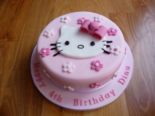 Simple Hello Kitty Cake Cakes Pinterest Hello kitty cake