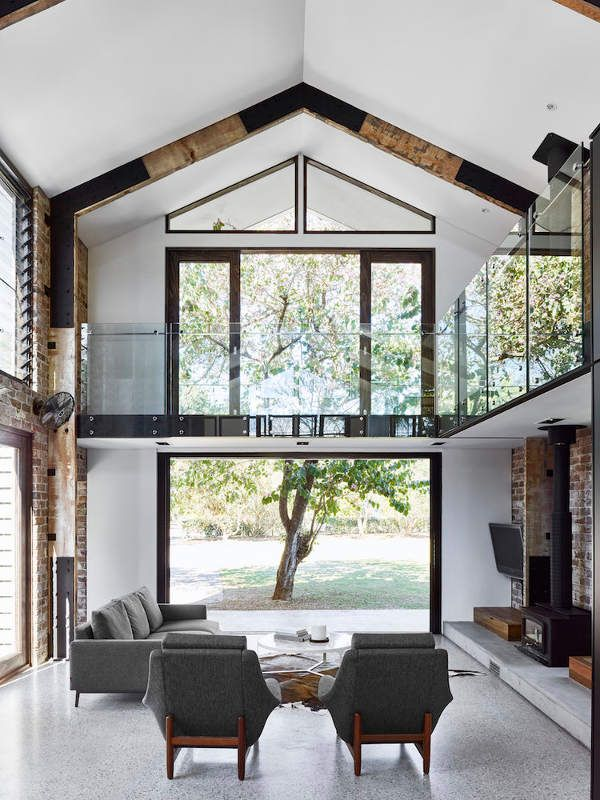 industrial home furniture. The Glasshouse Residence In Australia Is A Cool Industrial Home With An Open Layout Yet Very Cozy And Inviting Furniture I