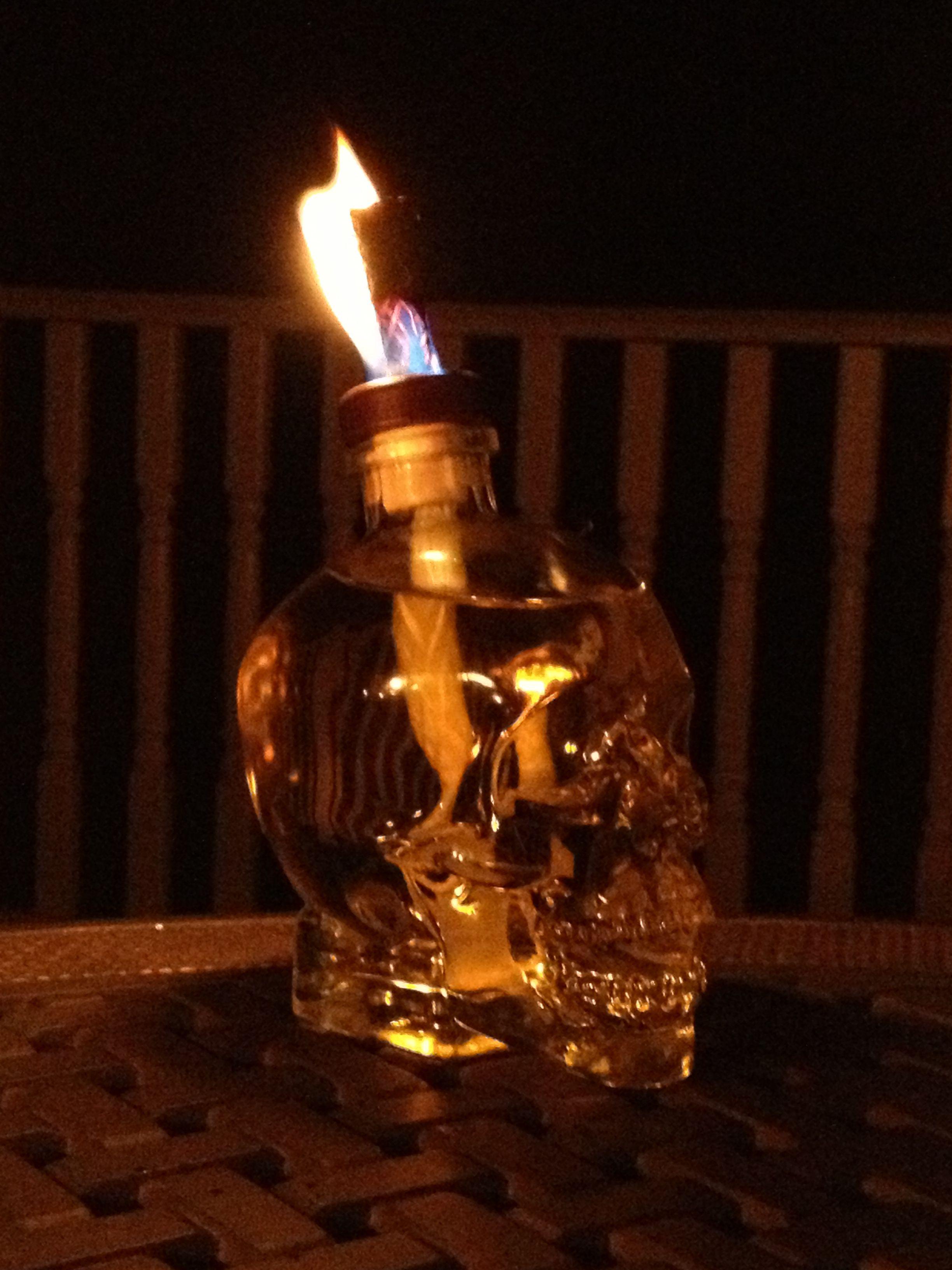skull vodka tiki torch ala brandon home pinterest tiki