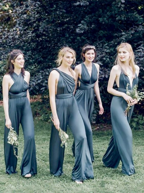 Elegant Long Bridesmaid Jumpsuits #bridesmaidjumpsuits