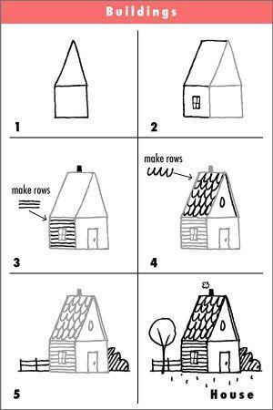 Dessin D Une Maison