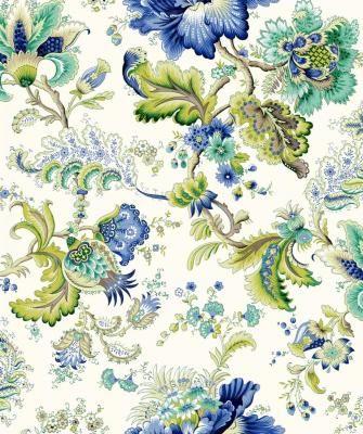 franz sischer vorhang und polsterstoff calais bleu fond ecru meterware 280 cm breit. Black Bedroom Furniture Sets. Home Design Ideas