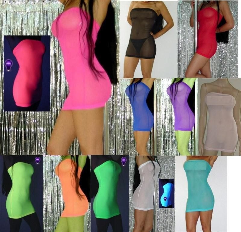 Item specifics    									 			Condition:  												 																	 															  															 															 																New with tags: A brand-new, unused, and unworn item (including handmade items) in the original packaging (such as  																  																		... - #Women'sDresses https://lastreviews.net/fashion/womens/womens-dresses/tube-dress-mesh-mini-blacklight-neon-glow-dancer-stripper-beach-coverup-lingerie/