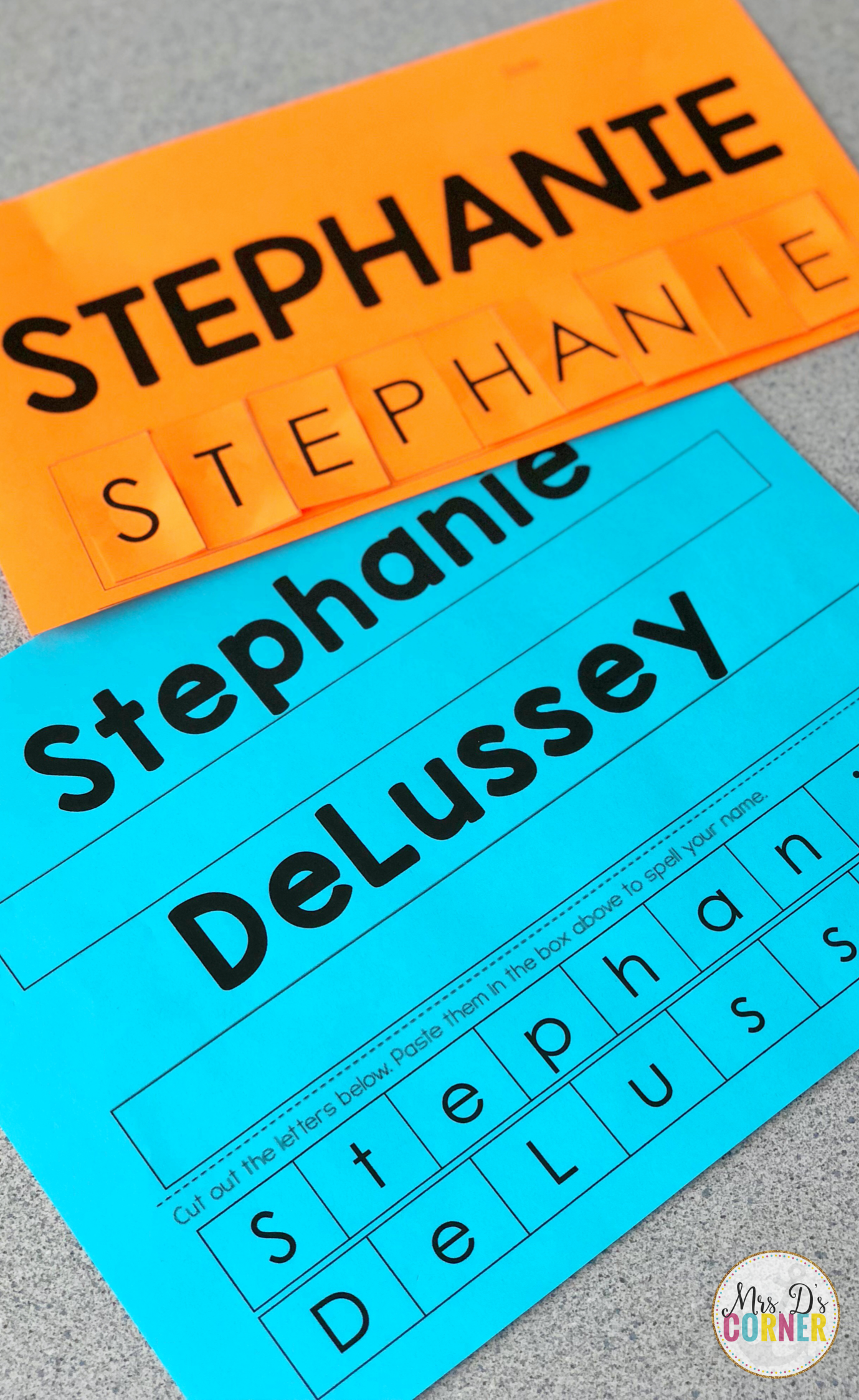 Printable Name Spelling Activity For Kids