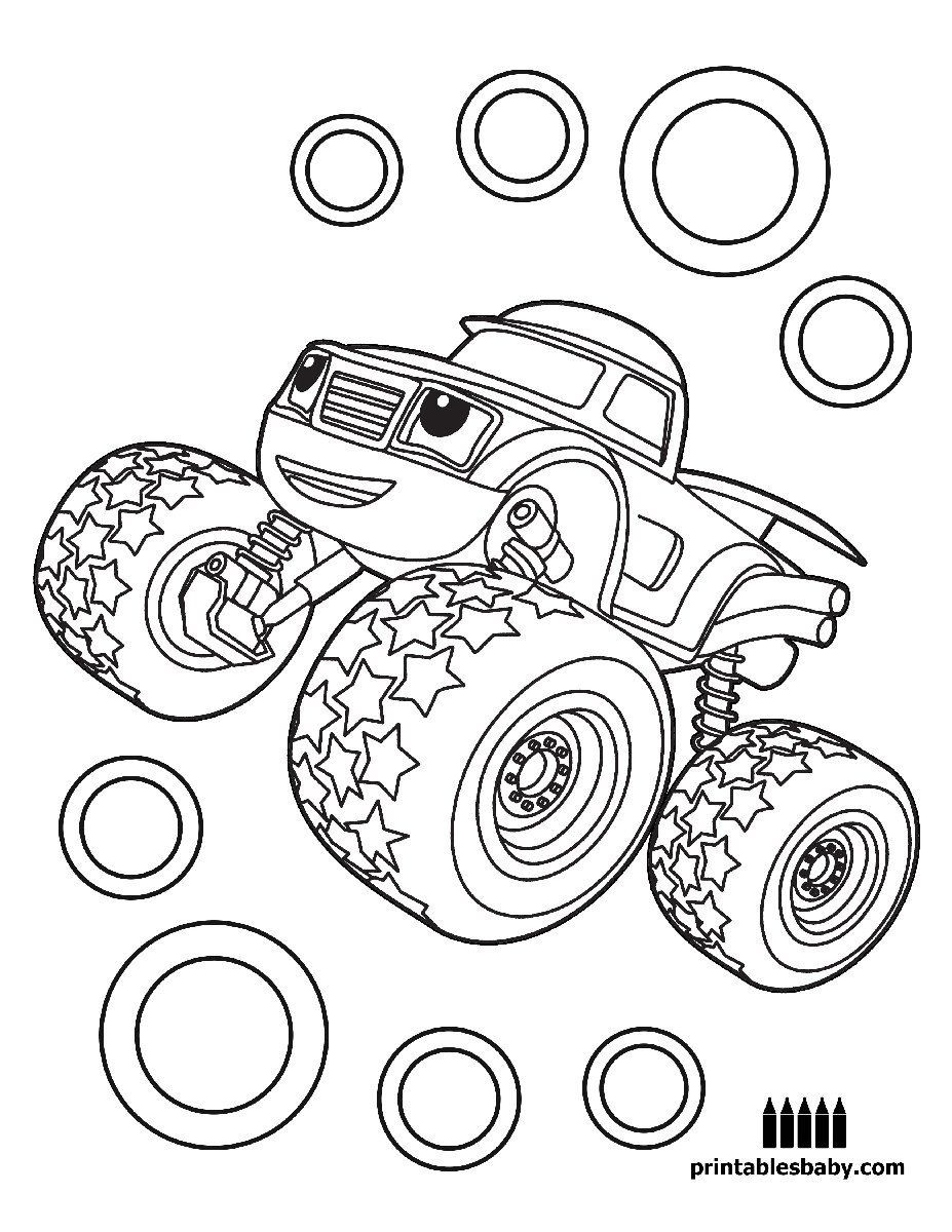 Blaze And The Monster Machines Coloring Pages Unique Awesome Big Machines Coloring P Monster Coloring Pages Monster Truck Coloring Pages Tractor Coloring Pages