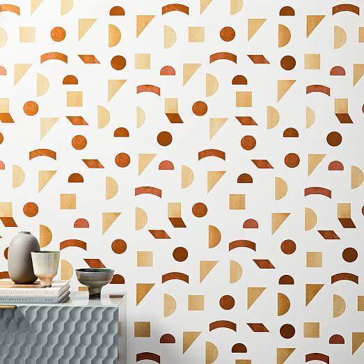 MidCentury Tile Wallpaper Wallpaper accent wall