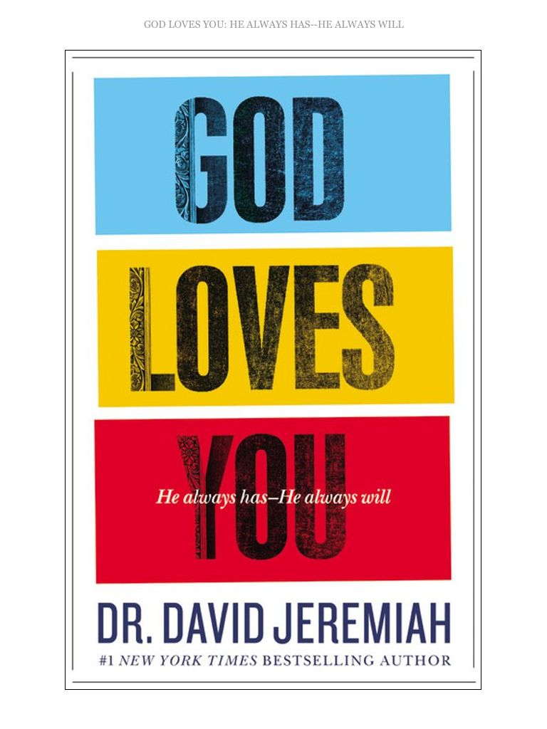 Powerful Book! Yes God Loves You!