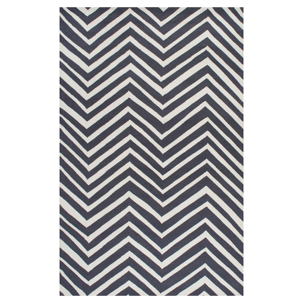 nuloom  wool hand hooked chevron accent rug  black ('  x   - nuloom  wool hand hooked chevron accent rug  black ('