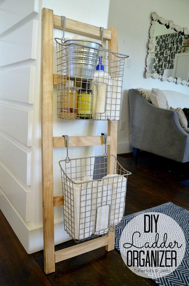 DIY Wood Organization Ladder