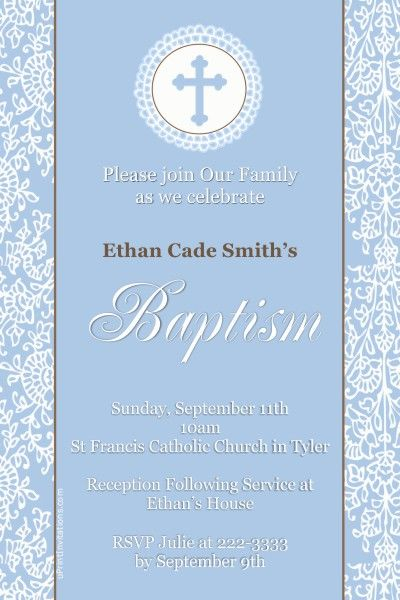 Baptism invitations - Any Wording - Get these invitations RIGHT NOW - create invitations online free no download