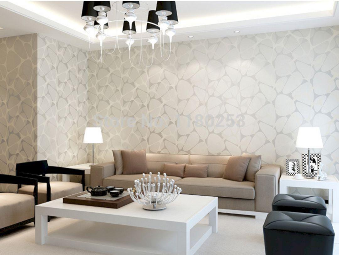 25+ Elegant Living Room Wallpaper Design For Amazing Home ...