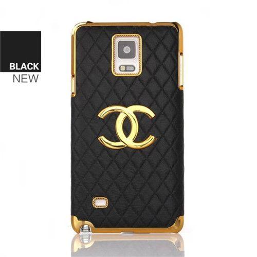 Elegant Chanel Leder Back Up Case Schutz Handyhulle Mit Goldenem Logo Fur Samsung S6 X2f S6edge Samsung S3 Und Galaxy Note 4 Case Galaxy Note 4 Leather Case
