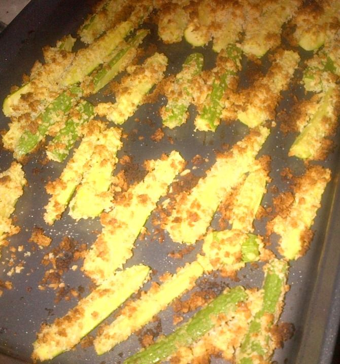 Go visit MY site for MY zucchini fries recipe.