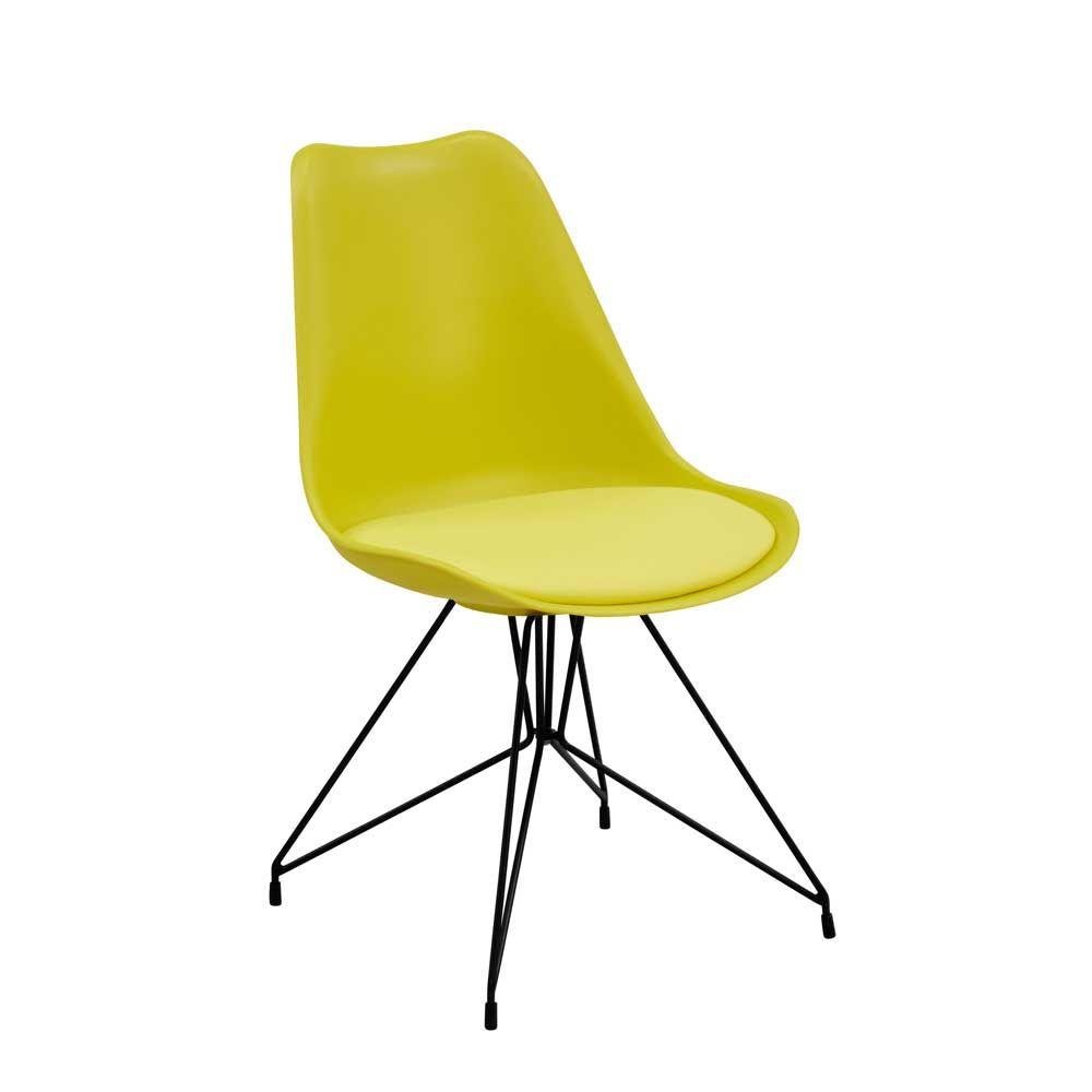 Esszimmer Schalenstuhl In Gelb Modern 4er Set Jetzt Bestellen