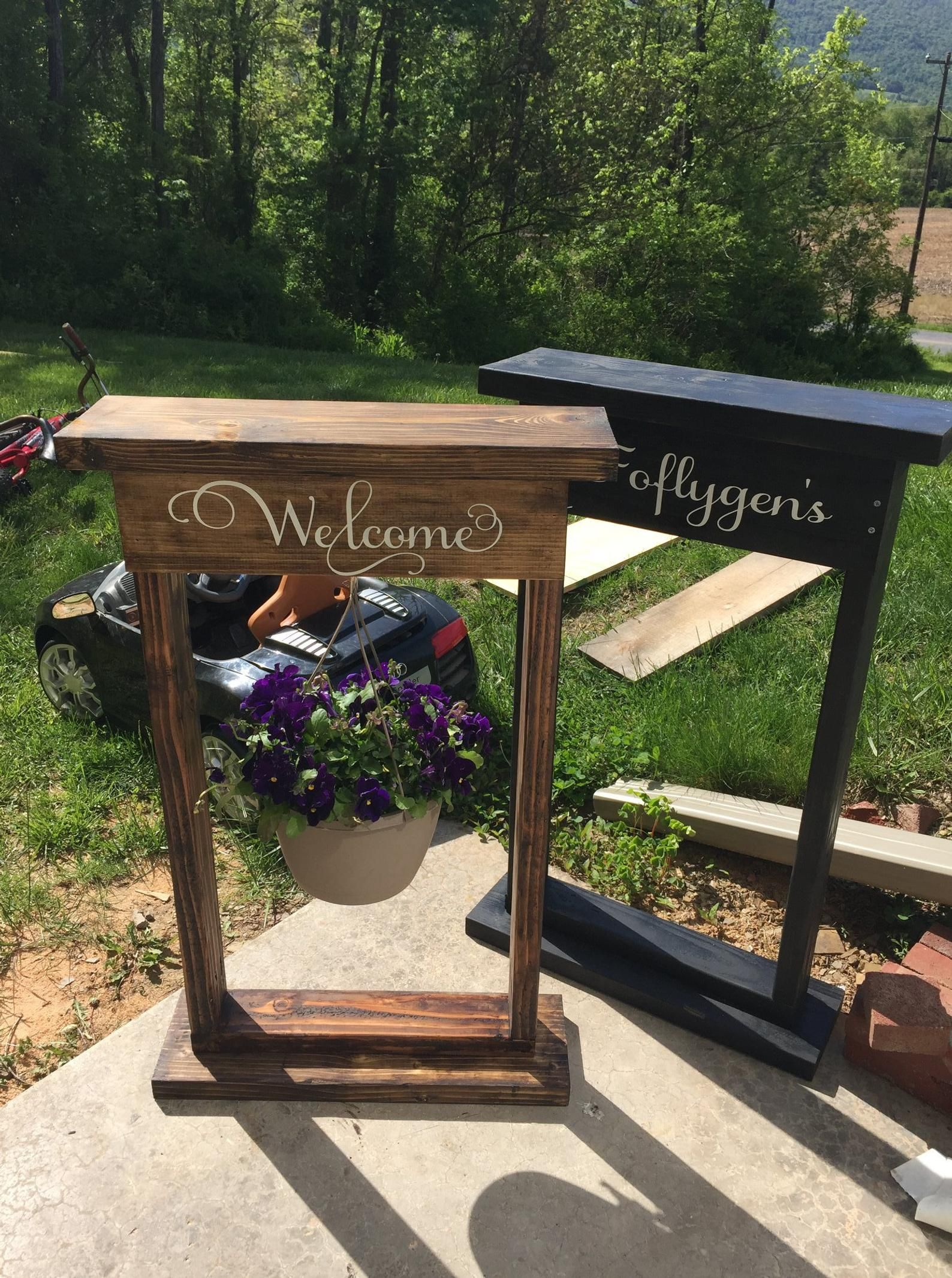 Custom flower stand etsy in 2020 hanging basket stand