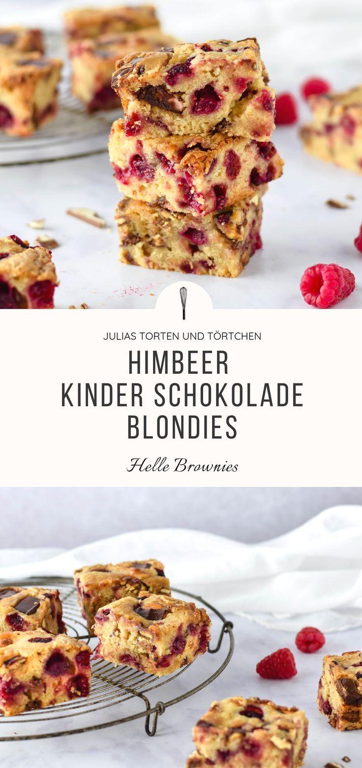 Himbeer Kinderschokolade Blondies