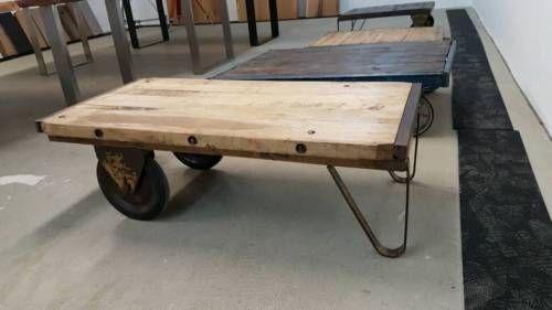Industrial Couchtisch Mit Radern No5 Tisch In Nordrhein Westfalen