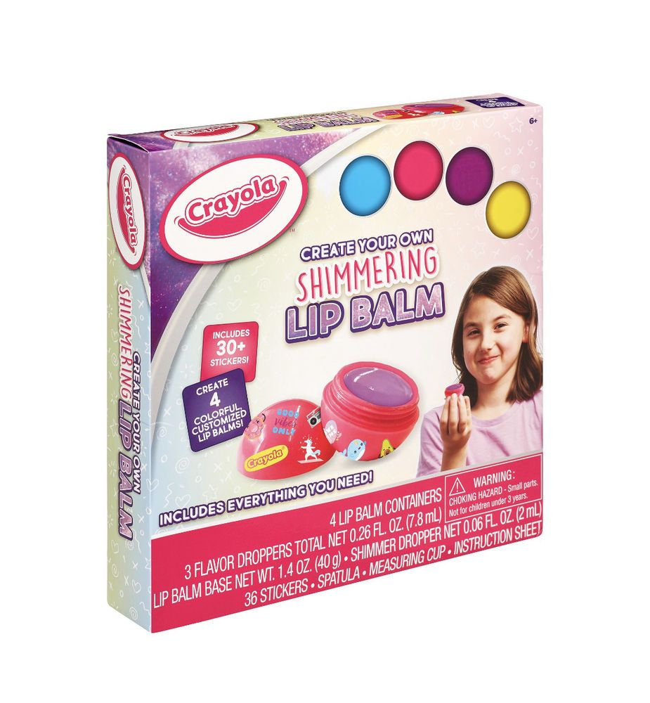 Crayola create your own shimmering lip balm kit for kids