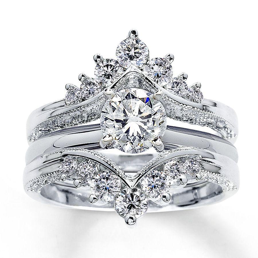 14k White Gold Carat T W Diamond Solitaire Enhancer Wedding By