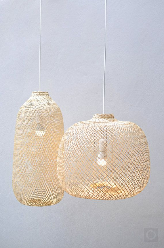 Bamboo Pendant Light  Repurposed Fish Trap Ceiling Lamp  Asian     Bamboo Pendant Light Re purposed Fish Trap Ceiling Lamp