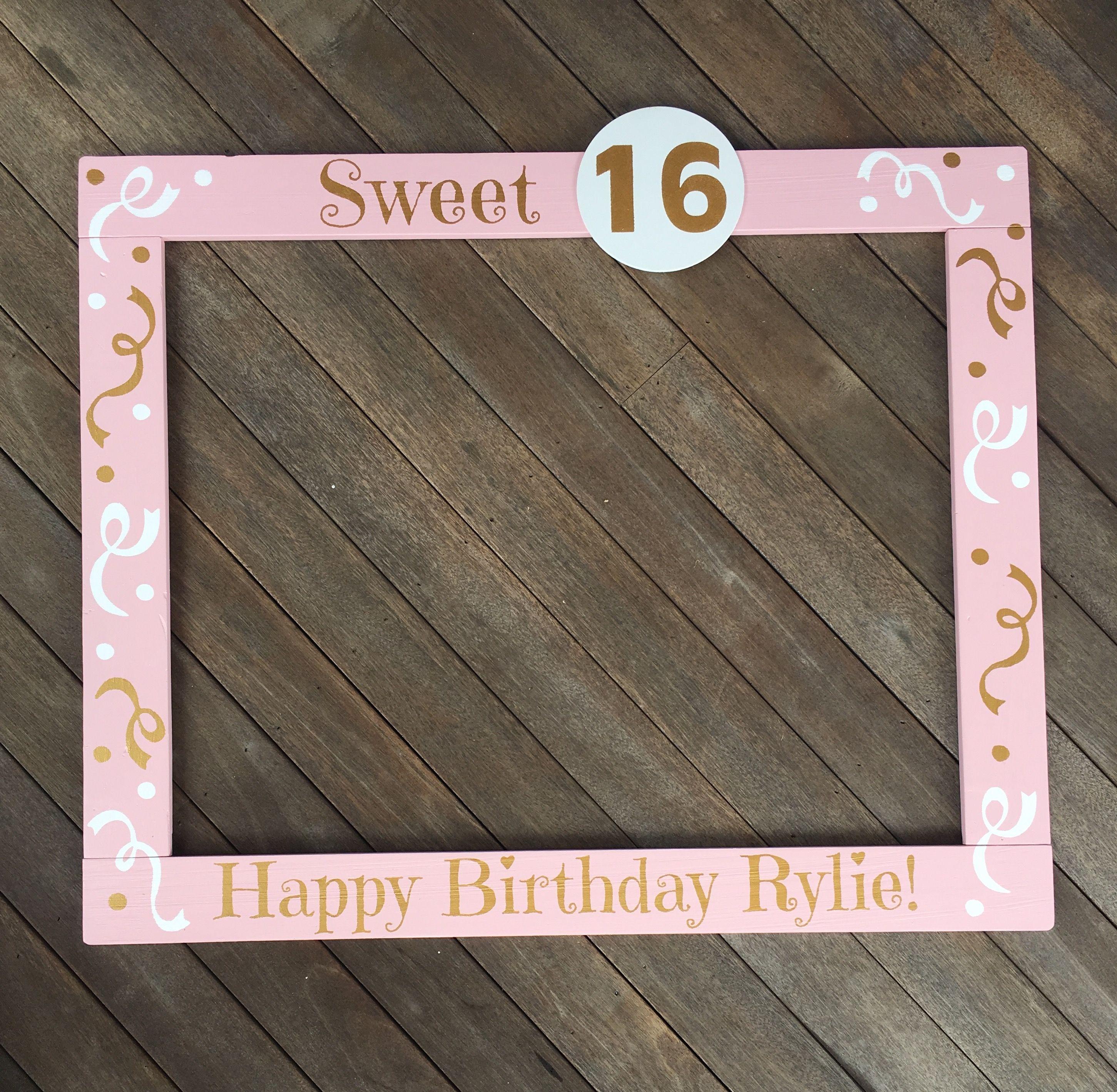 Sweet 16 Birthday Photobooth Frame