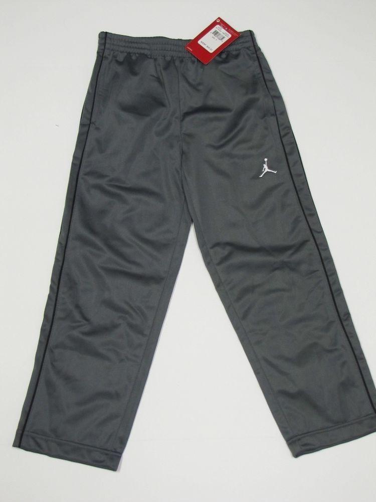 db1253125d1248 NWT Nike Air Jordan Jumpman Boys Athletic Track Sweat Pants Gray Black S  (5-6)