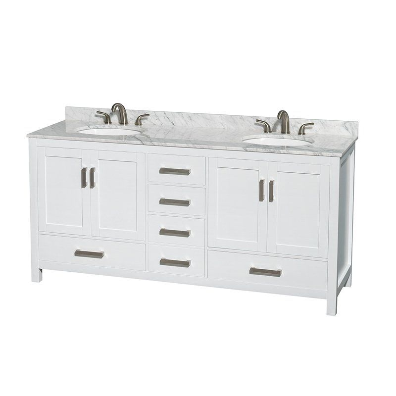 wyndham collection wcs141472dwh sheffield 72 in double bathroom vanity set with mirrors white wcs141472dwhcmunom24
