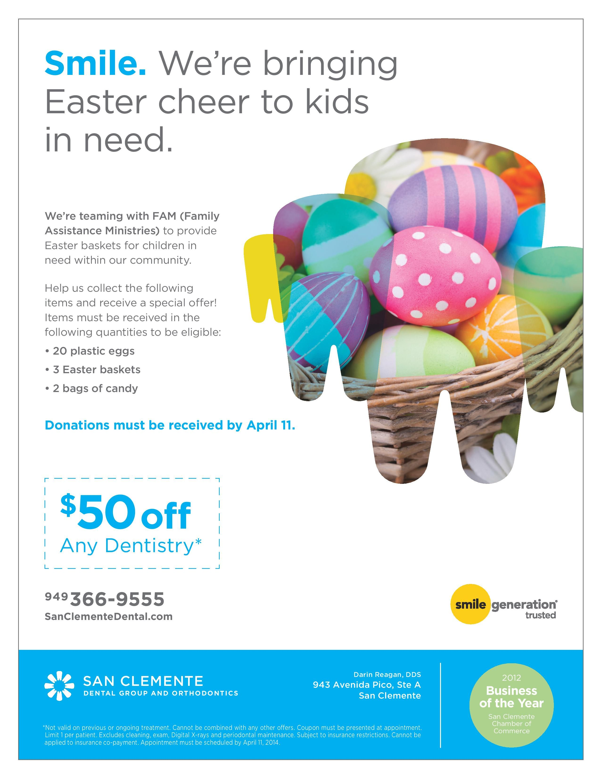Help Bring Easter Cheer To Kids In Need By Donating Easter Basket