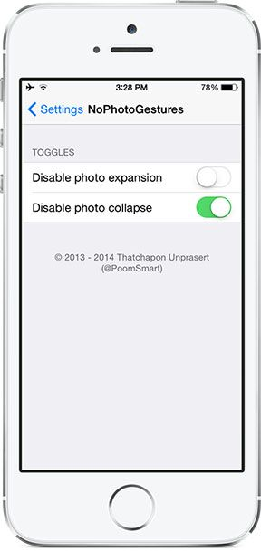 Cydia Tweak NoPhotoGestures v1.02 idevice and android