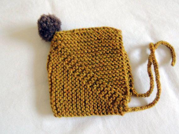 Baby Pom Pom Hut stricken Baby Hut von HeavenandHandKnits auf Etsy