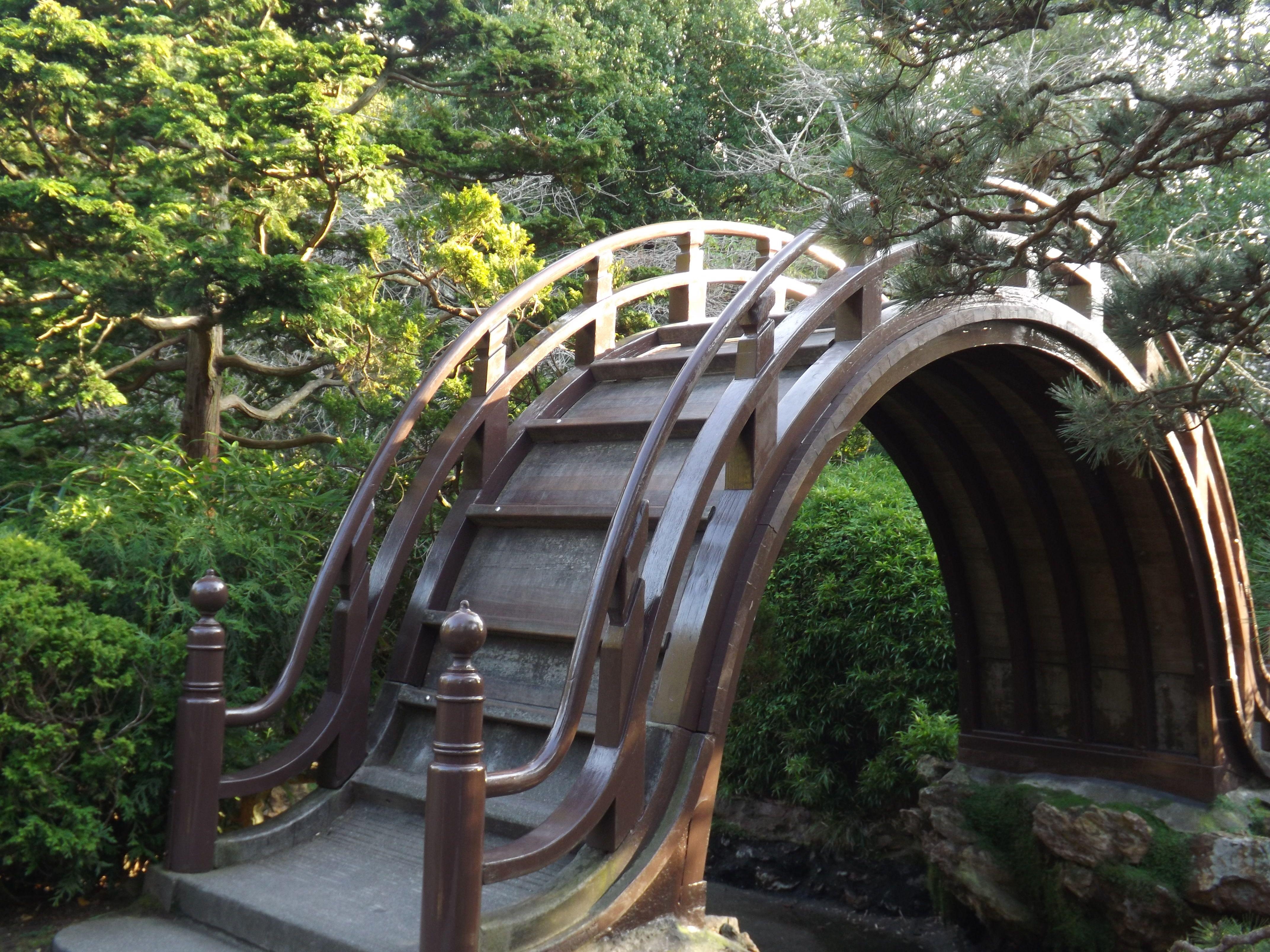 Half moon bridge Japanese Tea Garden in