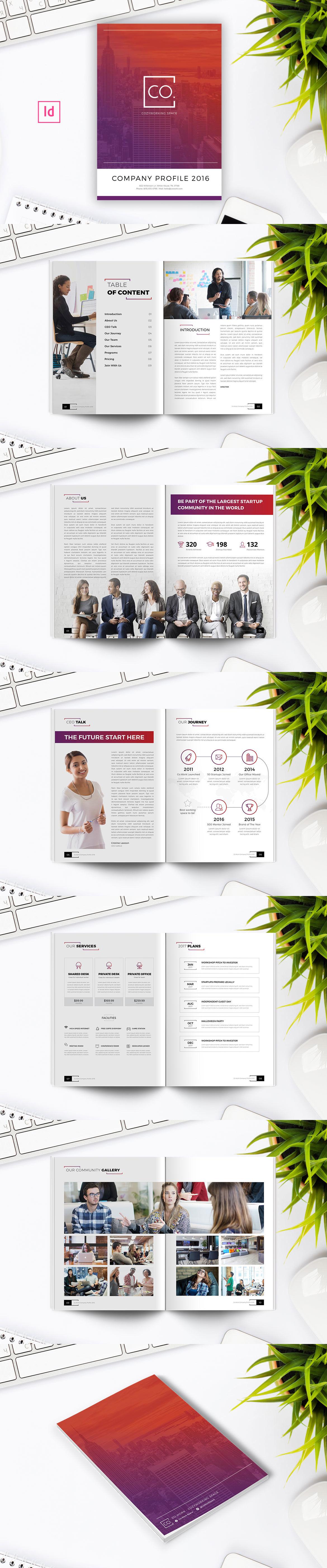 Company Profile Template InDesign INDD   Company Profile Tempaltes ...