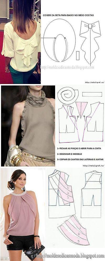 LOS PATRONES BLUZOK INTERESANTES Y LA CAPUCHA | cómo hacer ropa ...