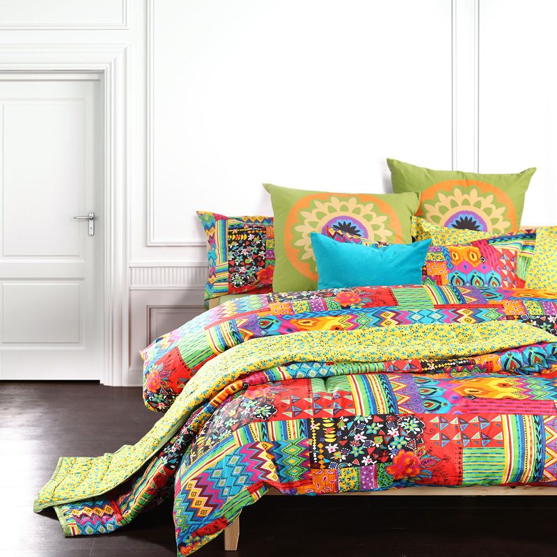 Bohemian Exotic Bedding Colorful Modern Duvet Cover Queen King Size Bed Sheet European