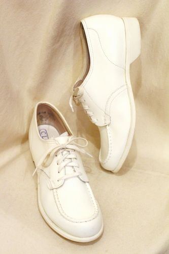 60u0027S~ CLINIC LACE UP LEATHER SHOES (WHT)   PATINAS VINTAGE CLOSET