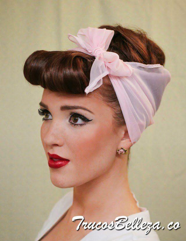 peinado pin-up clasico | peinados | pinterest | hair dos, vintage
