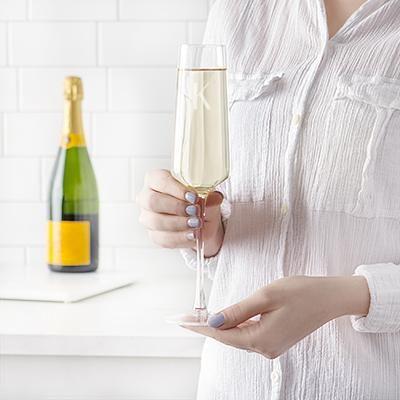 db8c0cf312f 9.5 oz. Champagne Estate Glasses in 2019 | personalized champagne ...