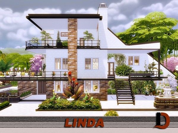Linda Modern House By Danuta720 From Tsr For The Sims 4 Maison Sims Sims 4 Maison Maison D Architecture