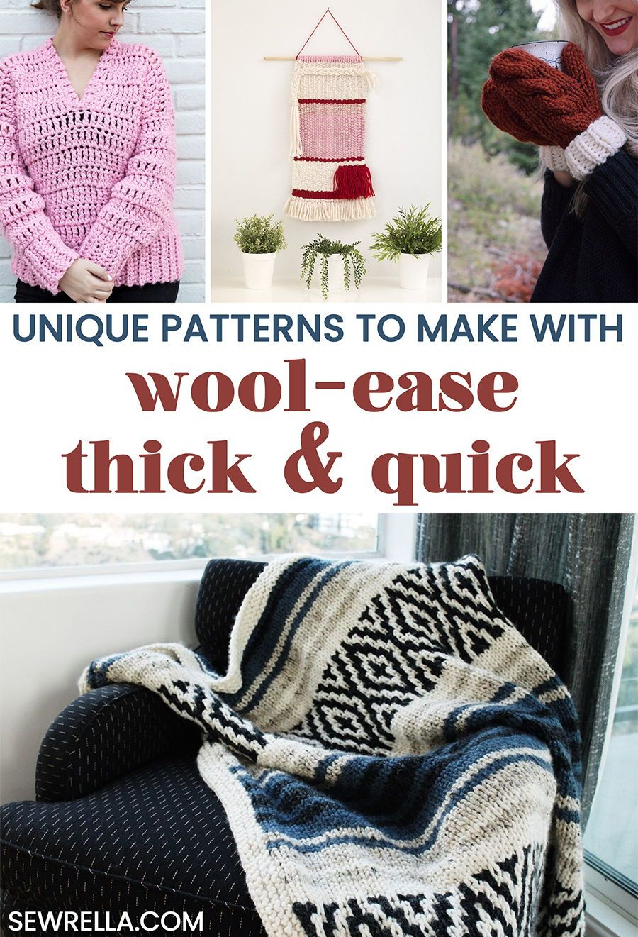 A Variety of WoolEase Thick u Quick Crochet and Knit Patterns