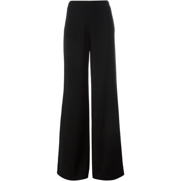 Diane Von Furstenberg Preston Trousers (475 BRL) ❤ liked on Polyvore featuring pants, black, diane von furstenberg and diane von furstenberg pants